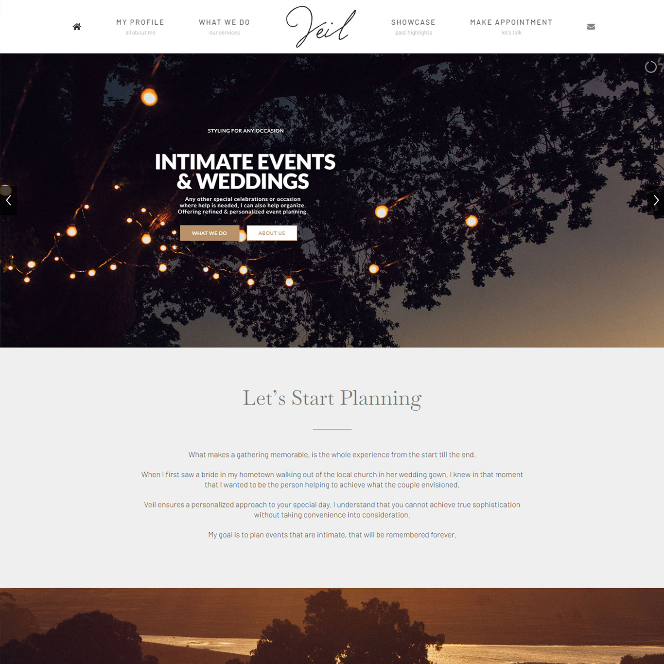 Veil events South Africa Desktop homepage
