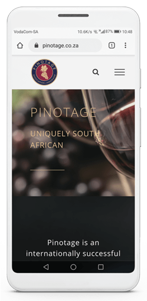 Pinotage Association of South Africa Mobile homepage